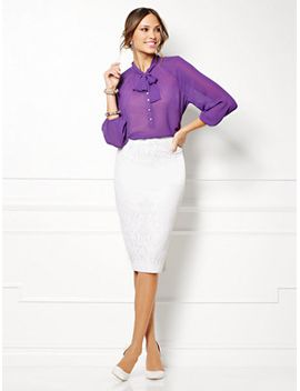 eva-mendes-collection---toni-tie-neck-blouse by new-york-&-company