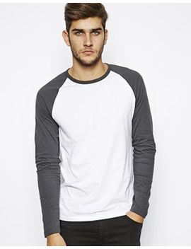 asos-long-sleeve-t-shirt-with-contrast-raglan-sleeves by asos