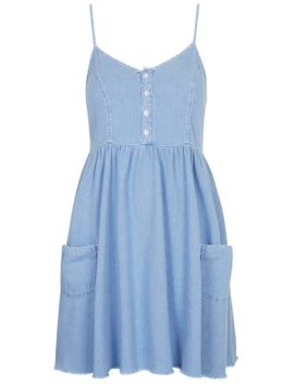 moto-bleached-wash-babydoll-dress by topshop