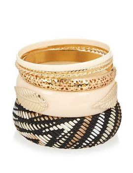 black-textured-multi-pack-bangles by new-look