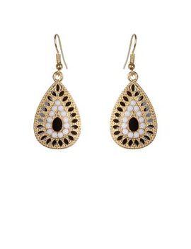 black-embellished-teardrop-earrings by new-look
