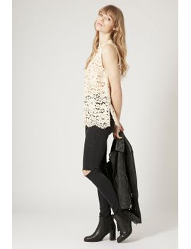 high-neck-lace-top by topshop