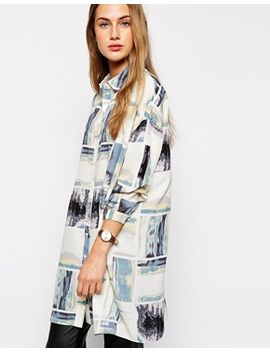 asos-oversized-boyfriend-shirt-in-contemporary-print by asos-collection