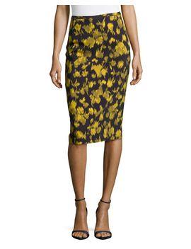 leaf-print-pencil-skirt by michael-kors