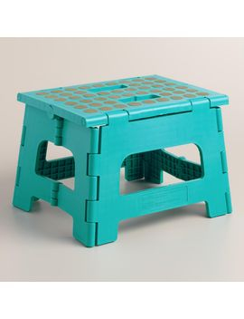 peacock-blue-kikkerland-foldable-stepstool by world-market