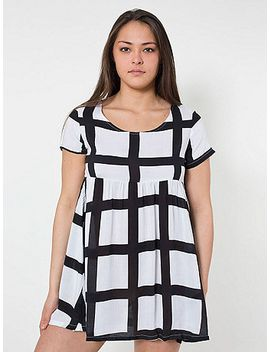 nathalie-du-pasquier-gaza-print-rayon-babydoll-dress by american-apparel