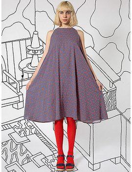 nathalie-du-pasquier-kaya-tomato-print-rayon-tent-dress by american-apparel