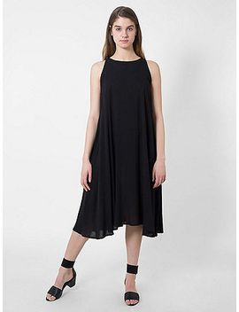 rayon-challis-sleeveless-mid-length-tent-dress by american-apparel