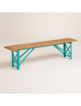 blue-beer-garden-dining-bench by world-market