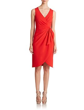 crossover-side-tie-sheath by badgley-mischka