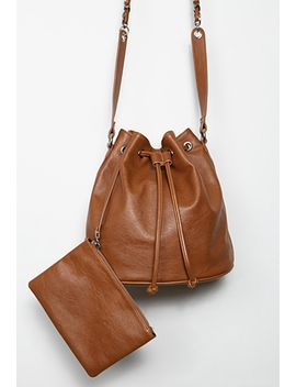 faux-leather-drawstring-bucket-bag by forever-21