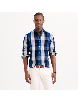 indigo-cotton-shirt-in-end-on-end-buffalo-check by jcrew