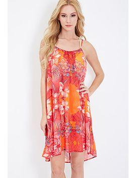 tropical-print-trapeze-cover-up by forever-21