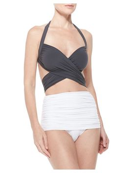 bill-mio-crisscross-one-piece-swim-suit by norma-kamali