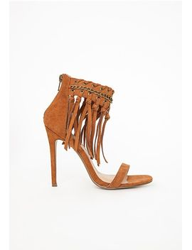 tassel-ankle-strap-heeled-sandals-tan by missguided