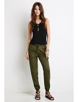zippered-drawstring-joggers by forever-21