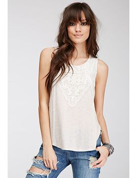 crochet-paneled-heathered-top by forever-21