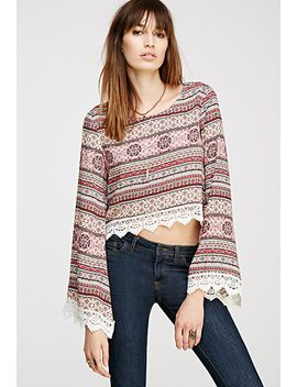 abstract-floral-crochet-trimmed-top by forever-21