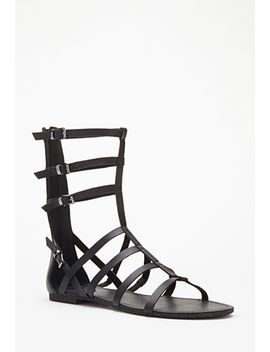 faux-leather-gladiator-sandals by forever-21