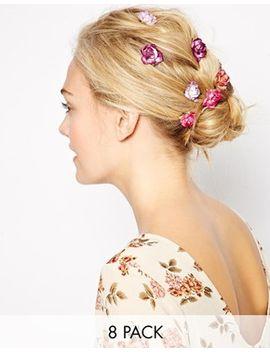 asos---lot-de-8-barrettes-en-papier-en-forme-de-roses by cliquer-ici-pour-visiter-toute-la-sélection-daccessoires-cheveux