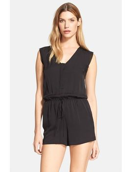 stretch-silk-crepe-romper by milly