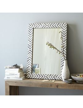 parsons-wall-mirror---gray-herringbone by west-elm