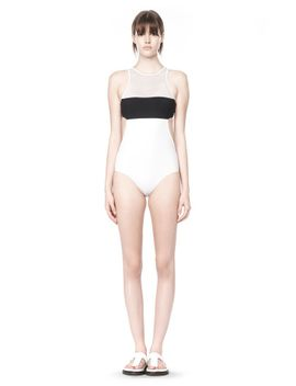 mesh-combo-one-piece-swimsuit by alexander-wang