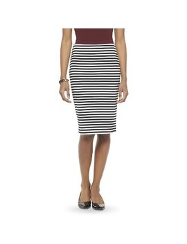 target-:-expect-more-pay-less by -womens-striped-ponte-pencil-skirt-merona®