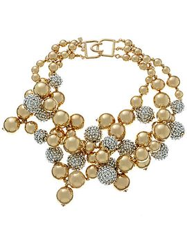 kenneth-jay-lane-plated-resin-bead-bib-necklace by ruelala
