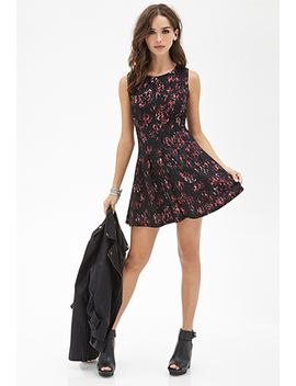 rose-lace-fit-&-flare-dress by forever-21