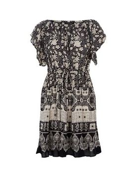black-floral-print-gypsy-smock-dress by new-look