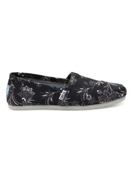 black-canvas-floral-womens-classics by toms