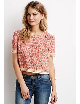 boxy-medallion-print-top by forever-21