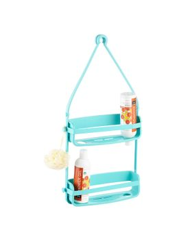 umbra-teal-flex-shower-caddy by container-store