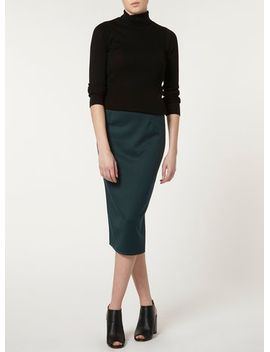 green-scuba-style-pencil-skirt by dorothy-perkins