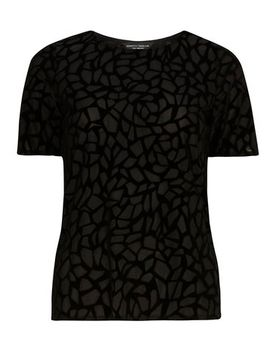 tall-black-abstract-devore-tee by dorothy-perkins