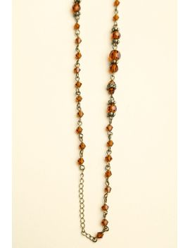 brown-beads-necklace by brandy-melville