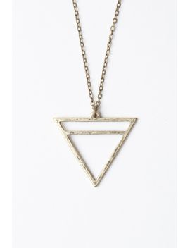 triangle-necklace by brandy-melville