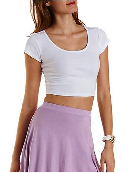 ribbed-crop-top by charlotte-russe