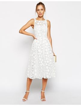 asos-premium-midi-skater-dress-with-daisy-appliques by asos-collection