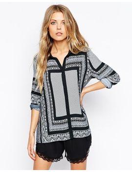 vila-placement-scarf-print-shirt by vila
