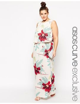 asos-curve-exclusive-double-layer-maxi-dress-in-gorgeous-floral-print by asos-curve