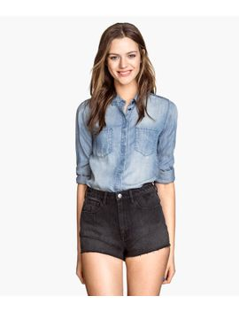 denim-shorts-high-waist by h&m