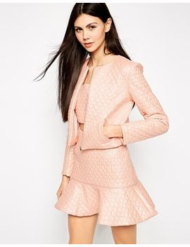 lashes-of-london-heart-quilted-jacket by lashes-of-london
