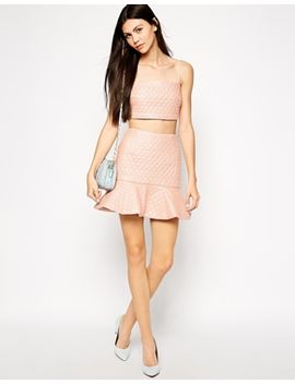 lashes-of-london-heart-quilted-peplum-hem-skirt by lashes-of-london