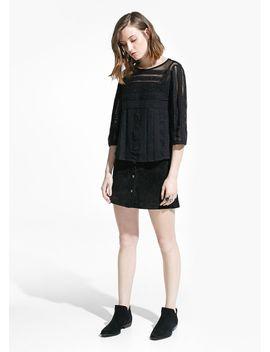 crochet-appliqué-blouse by mango