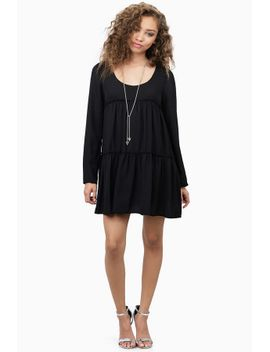 tier-she-goes-again-black-shift-dress by tobi