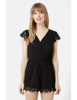 lace-scallop-romper by topshop