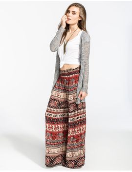 angie-ethnic-print-womens-wide-leg-pants by tillys