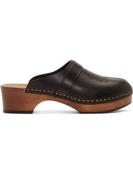 black-leather-clogs by saint-laurent